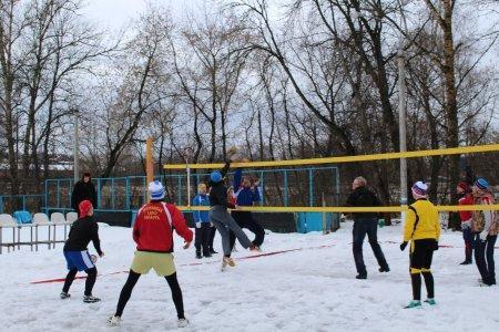 Турнир по снежному волейболу. 15.01.15