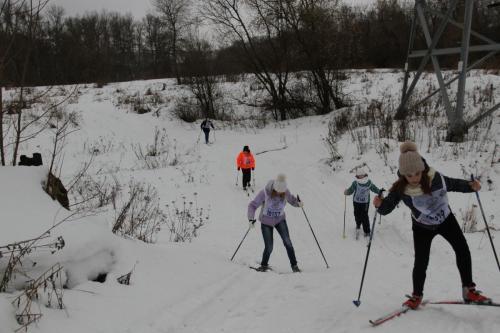 Сдача норм ГТО (лыжные гонки) среди учеников 5-7 классов СОШ №1 20.02.2017