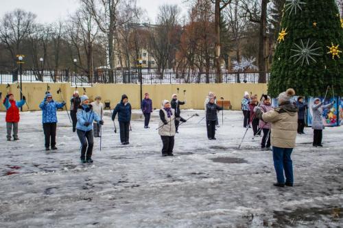 Мастер-класс по скандинавской ходьбе (13.12.17г.)